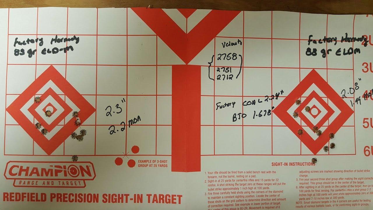224 Valkyrie - Shooting Hornady 88 gr ELD Match Factory Ammo