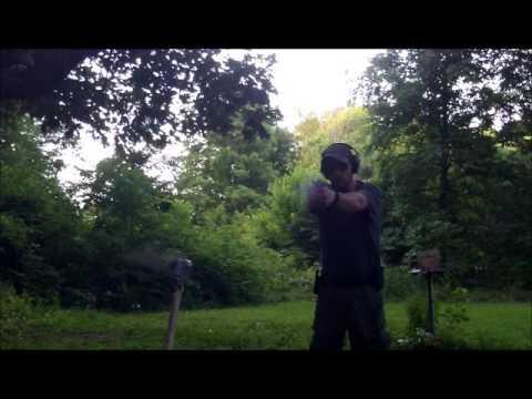 The GunFather Trick Shot Tuesday 1 Second  22lr Target Pistol Trick Shot