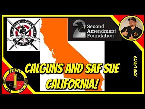 SAF And Calguns Sue Over Handgun Roster; VT Law Unenforceable; CA Expands Red Flag Seizures