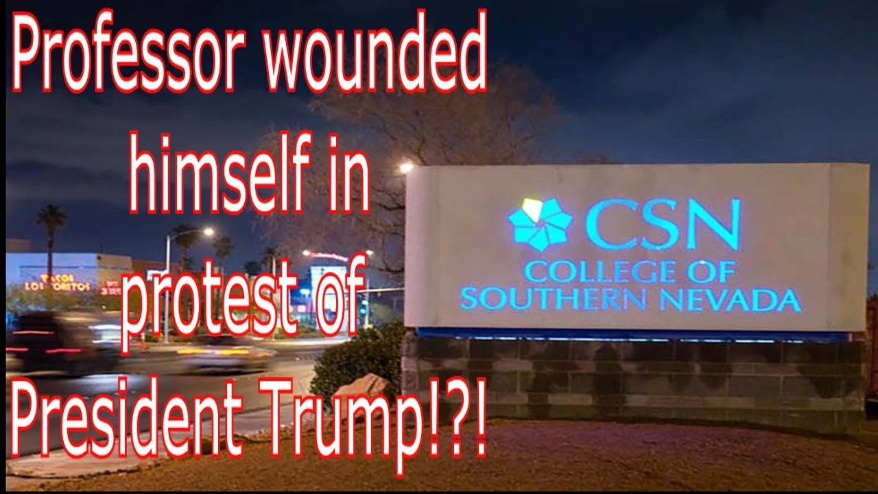Professor wounded himself in protest of President Trump!?!?!