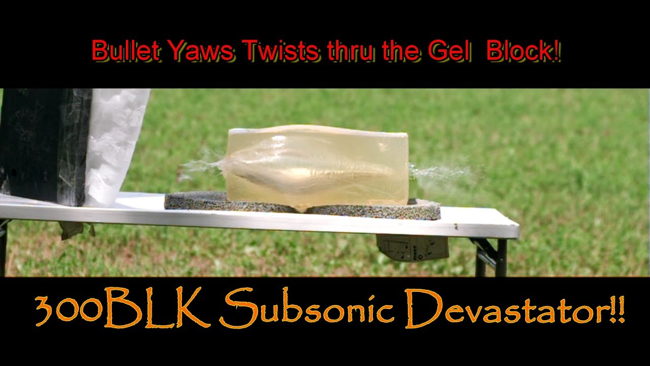 Lehigh Defense 300BLK 226gr Subsonic Experiment #1 Ballistic Gel Tests