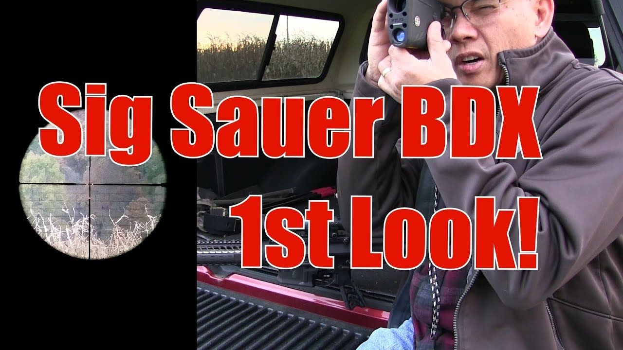 Sig Sauer BDX Scope Laser Range Finder System 1st Look 6.5 Creedmoor