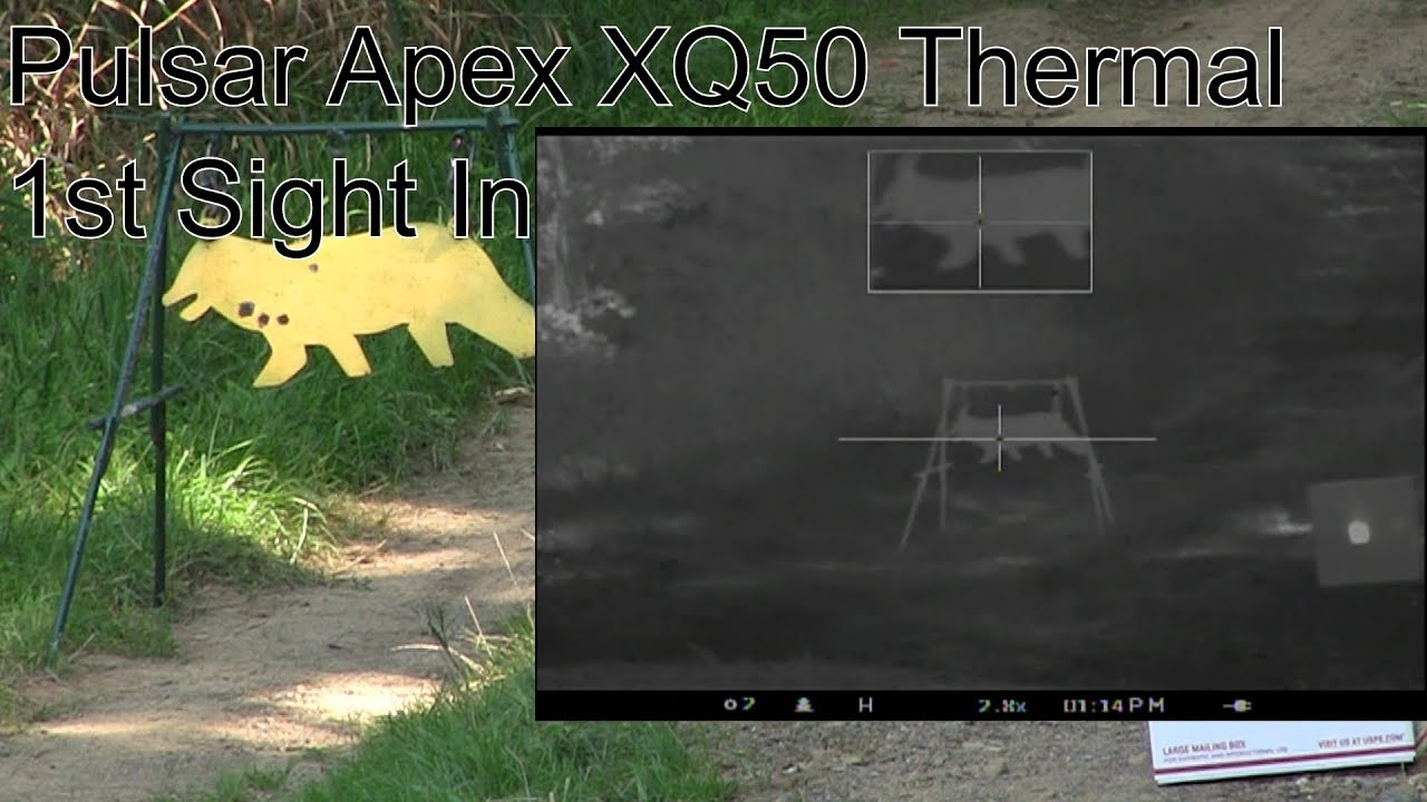 Pulsar Apex XQ50 Thermal Scope 1st Sight In 300BLK Lehigh Defense 168gr CF