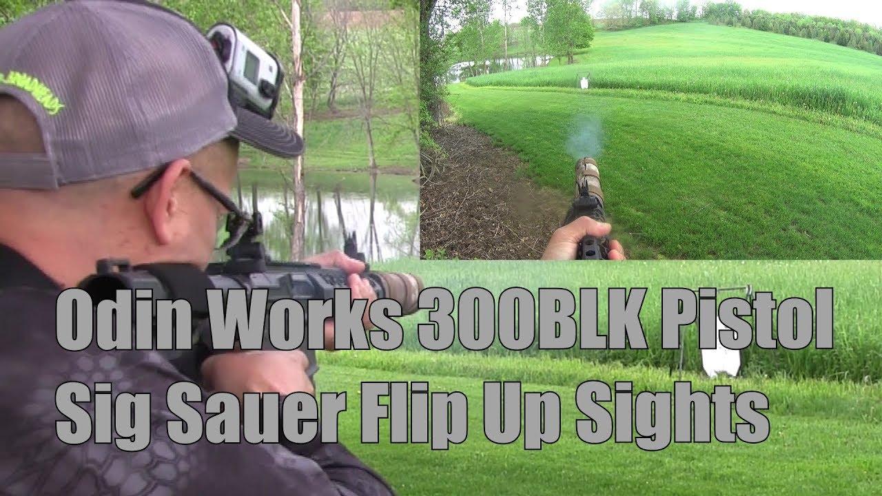 Odin Works 300BLK Pistol Sig Sauer Flip Up Sights Lehigh Defense 194gr Maximum Expansion Subsonics