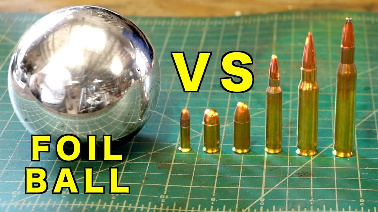 Shooting a Polished Foil Ball. Can Foil Stop a Bullet? GunCraft101