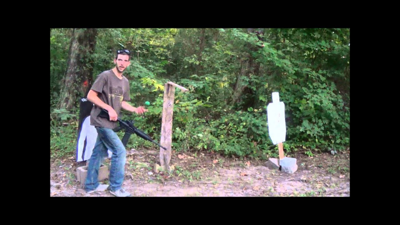 The GunFather- Trick Shot Tuesday:  *Swinging Water Balloon with Open Sights*