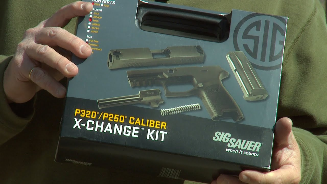 Sig P320 Caliber X-Change Kit and Installation. #344