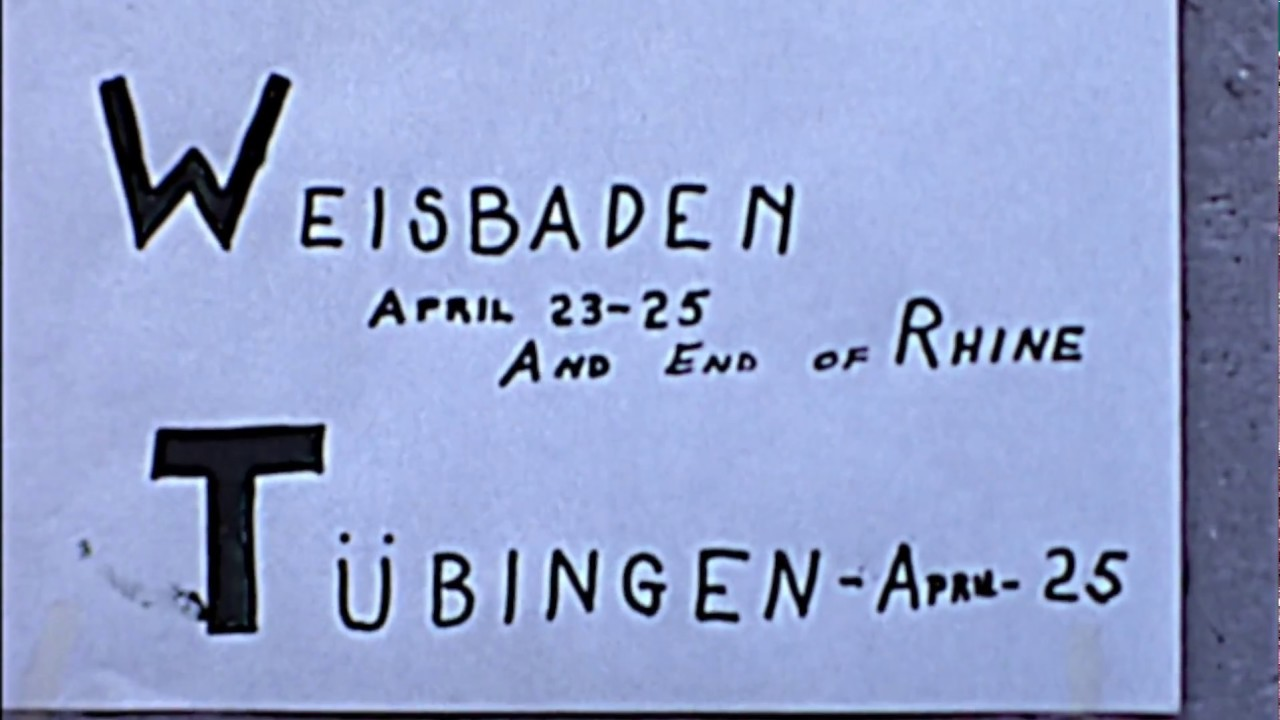 3 Guys and a Gal in Wiesbaden - Tubingen Part 3 1969