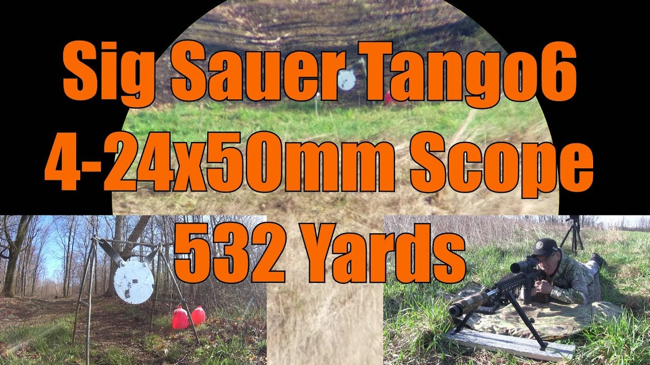 Sig Sauer Tango6 4-24x50 532 yards AR10 6mm Creedmoor Stag Arms Evolution Gun Works