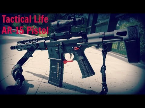 Tactical Life Custom AR15 PISTOL in action