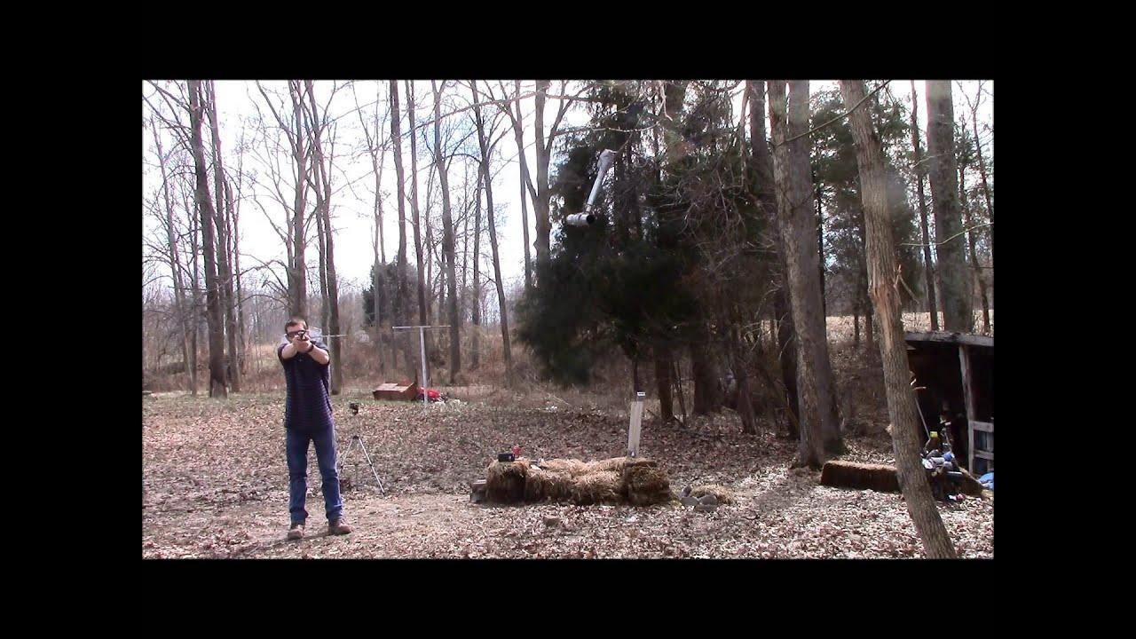 The GunFather: Trick Shot Tuesday- Swinging Shotgun Shell Primer **2 Bullets 1 Trigger Pull**