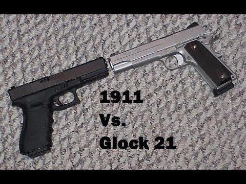 1911 Vs. Glock 21