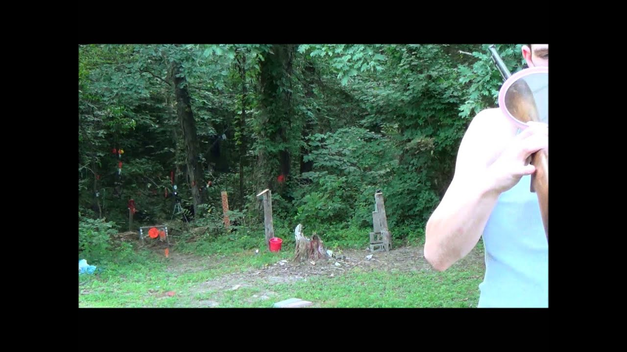The GunFather Trick Shot Tuesday Over the shoulder Annie Oakley Style at 75 yards