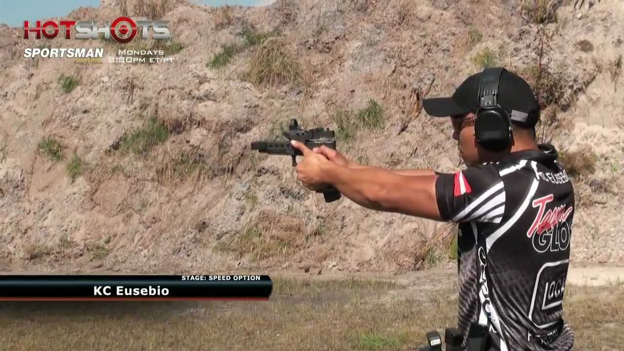 Speed Shooter Showdown - Max Michel vs. KC Eusebio - Clip from Hot Shots TV Show