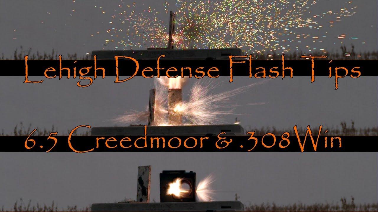 Lehigh Defense 6.5 Creedmoor and 308WIN Flash Tips Slo Mo Close Ups