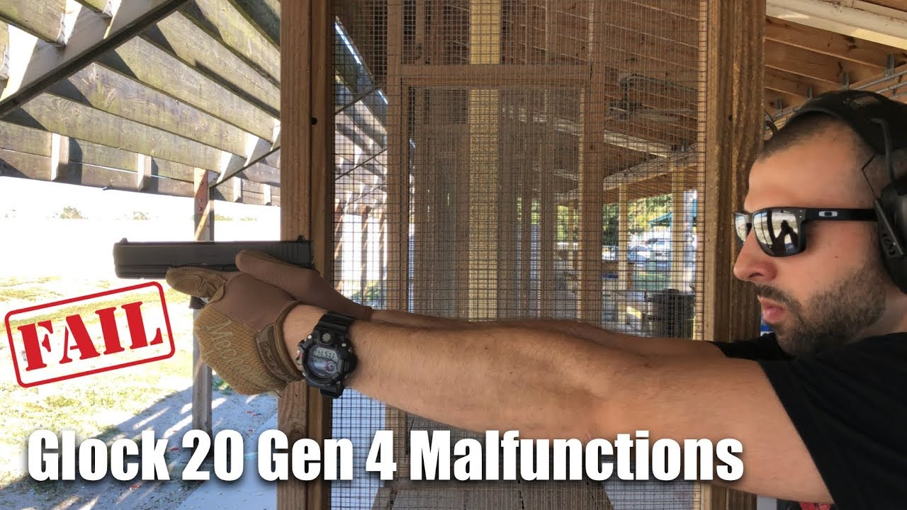 Glock 20 Gen 4 Malfunctions (10mm) Failure to Feed