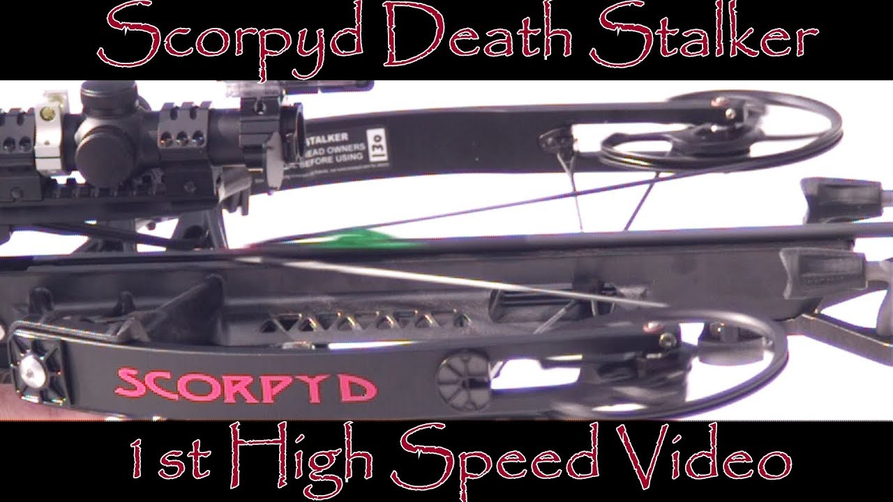 Scorpyd DS Crossbow 1st High Speed Video Slo Mo Slow Motion