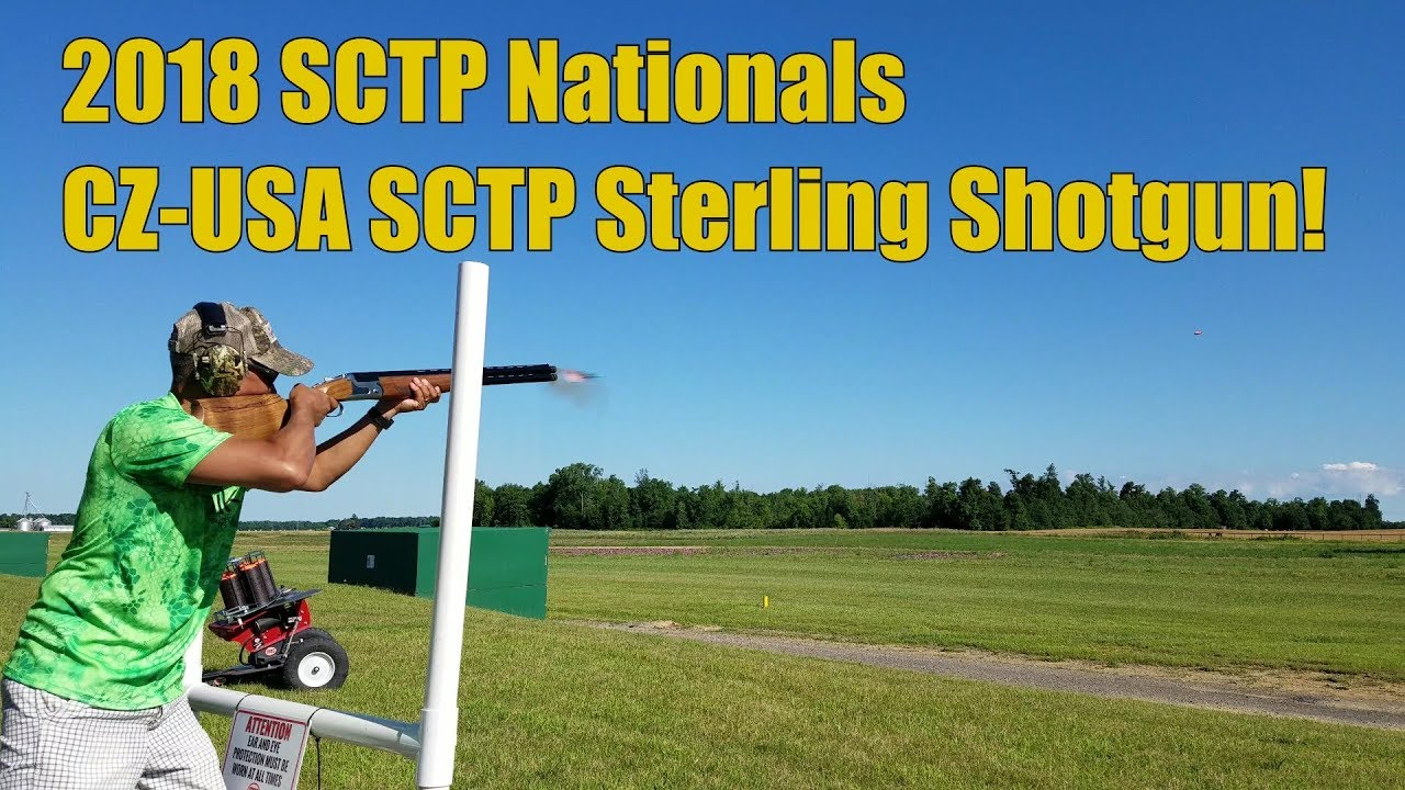 SCTP National 2018 CZ USA Test Firing SCTP Sterling Shotgun!