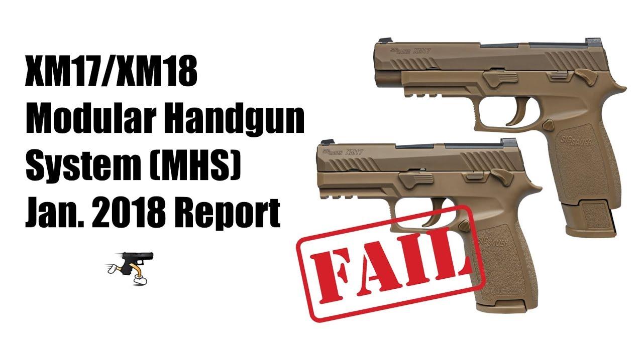 U.S. Army Fields SIG SAUER M17/M18 Pistols - FAIL