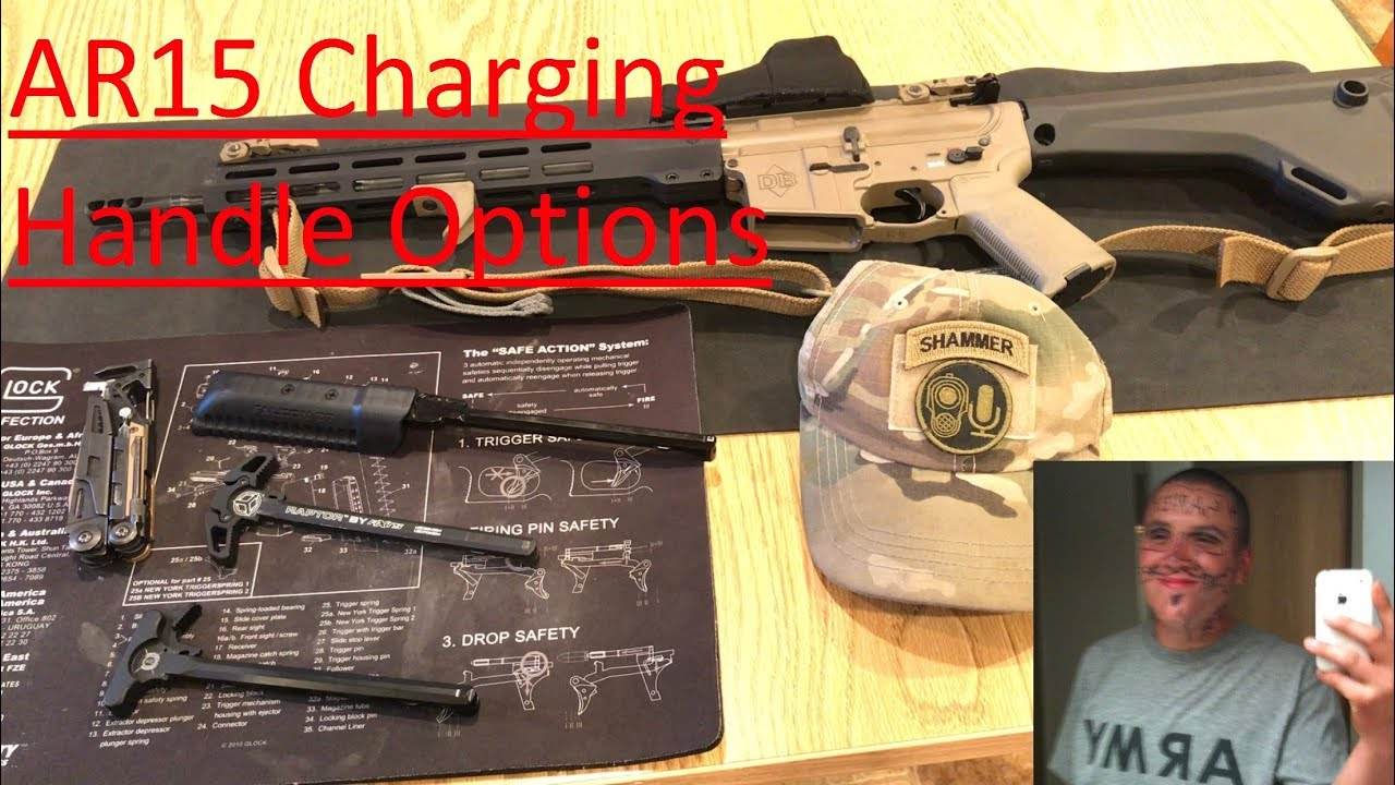 AR15 Charging Handle Options: Habu, Raptor, extended, and side charge