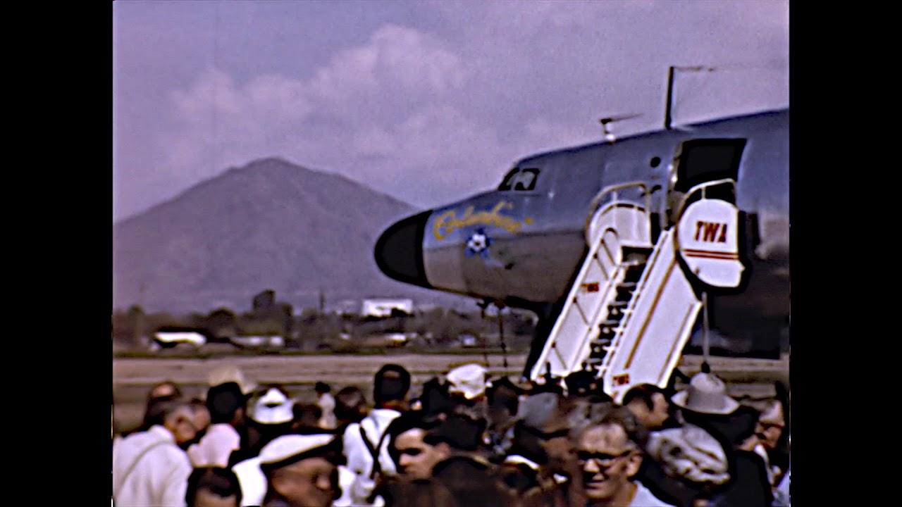 President Eisenhower Arrives at Sky Harbor Airport, Phx  AZ Feb 23 1958