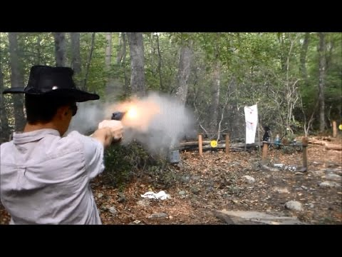 Shooting Black Powder Revolver Paper Cartridges
