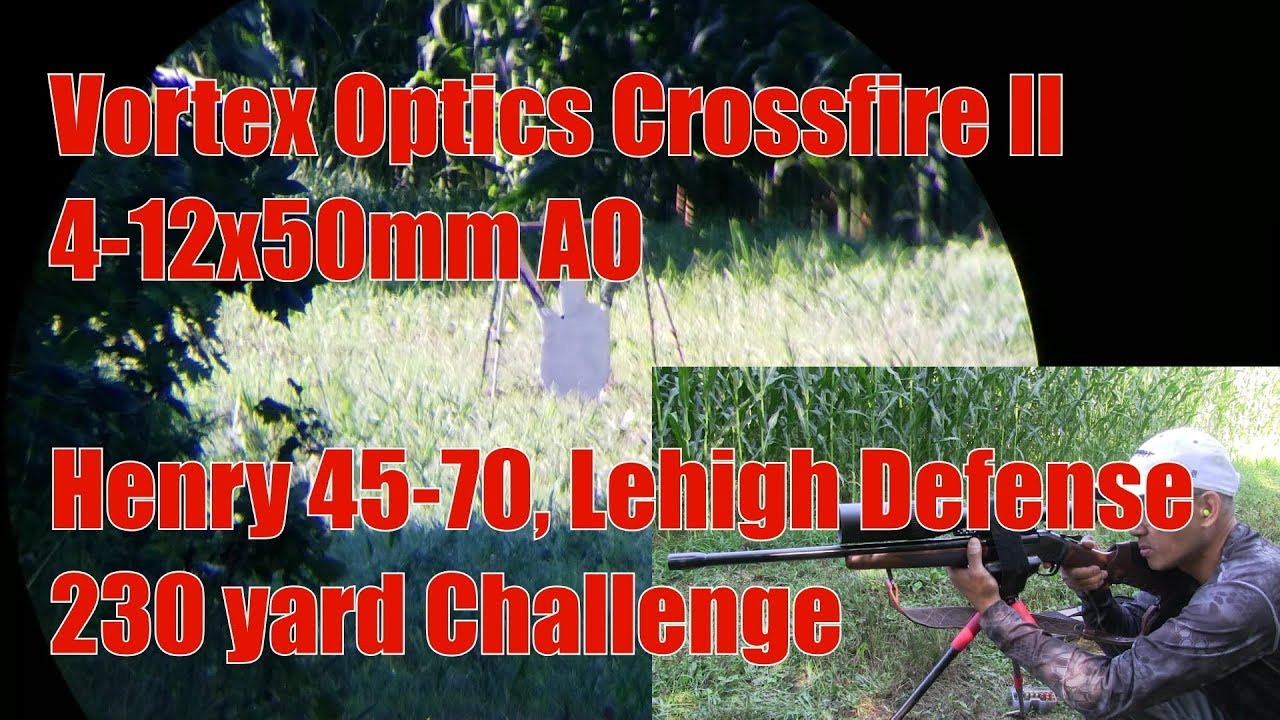 1st Look Vortex Crossfire II 4-12x50 AO KAW Valley Comp Lehigh Defense Henry Single Shot 45-70
