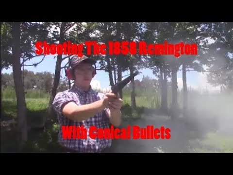 Shooting the 1858 Remington with Conical Bullets