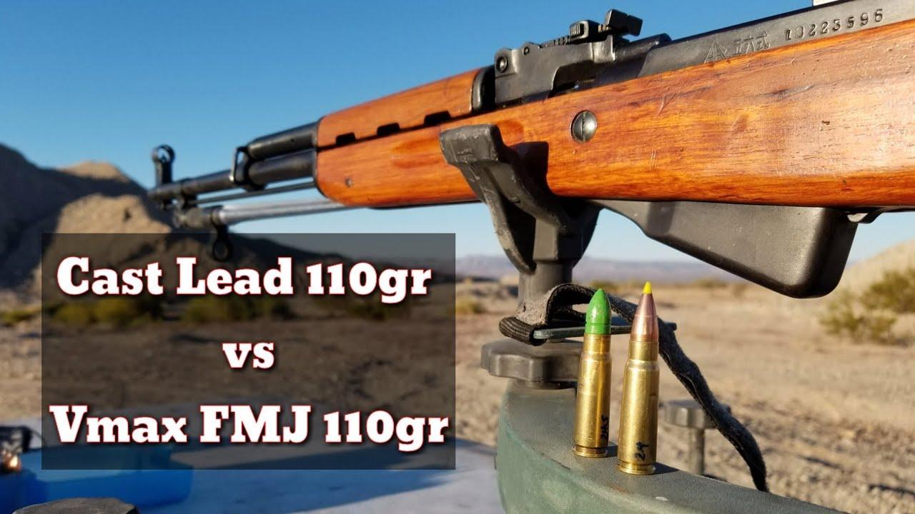 7.62x39 SKS - Cast Gas Checked 110gr vs Vmax 110gr Bullets - Plinking Round