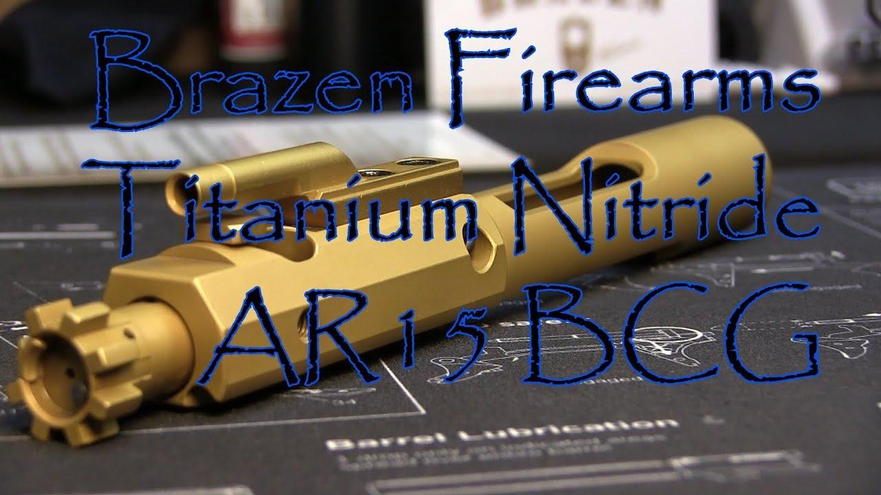 Brazen Firearms Titanium Nitride AR15 6PDK BCG Bolt Carrier Group