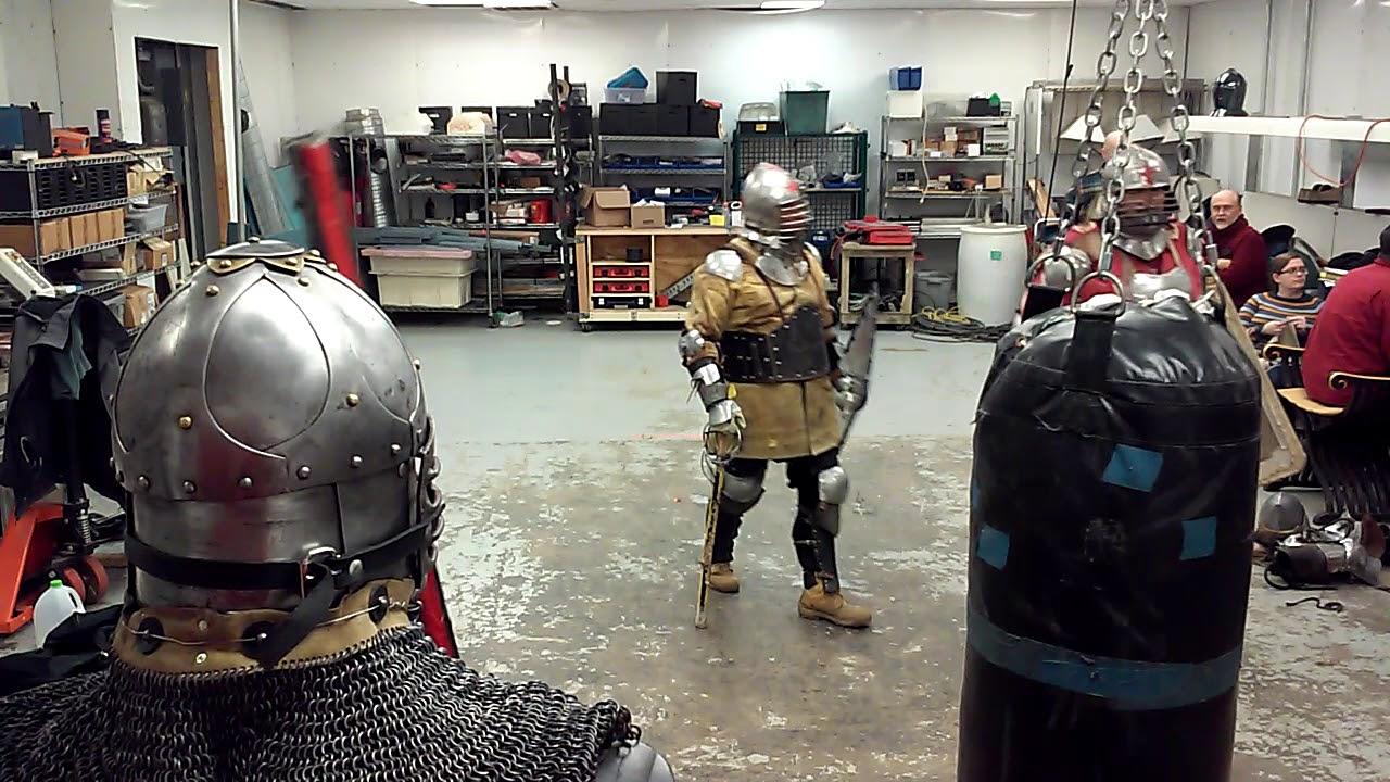 Sword fighting with Roman Scutum Shields