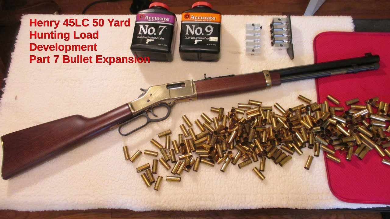 Henry 45LC 50 Yard Hunting Load Development Part 7