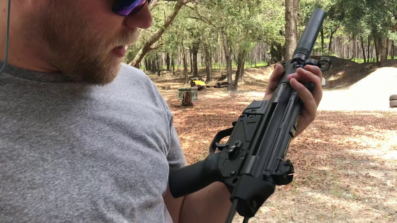 MP5 Full Auto Suppressed
