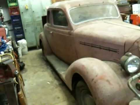 My '35 Plymouth PJ uncovered after 40 years.