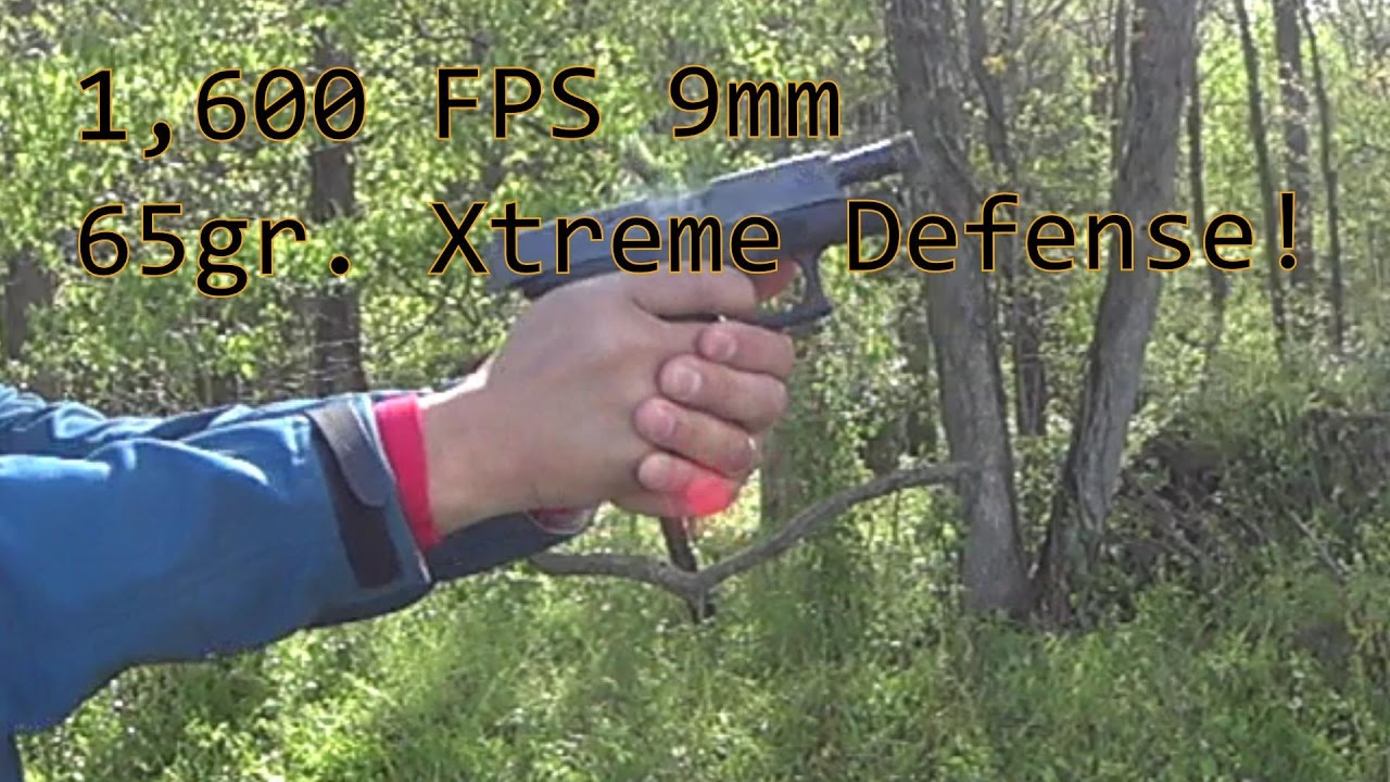 Lehigh Defense 9mm 65gr Xtreme Defense Glock 26 1st Time Shooting Outdoors