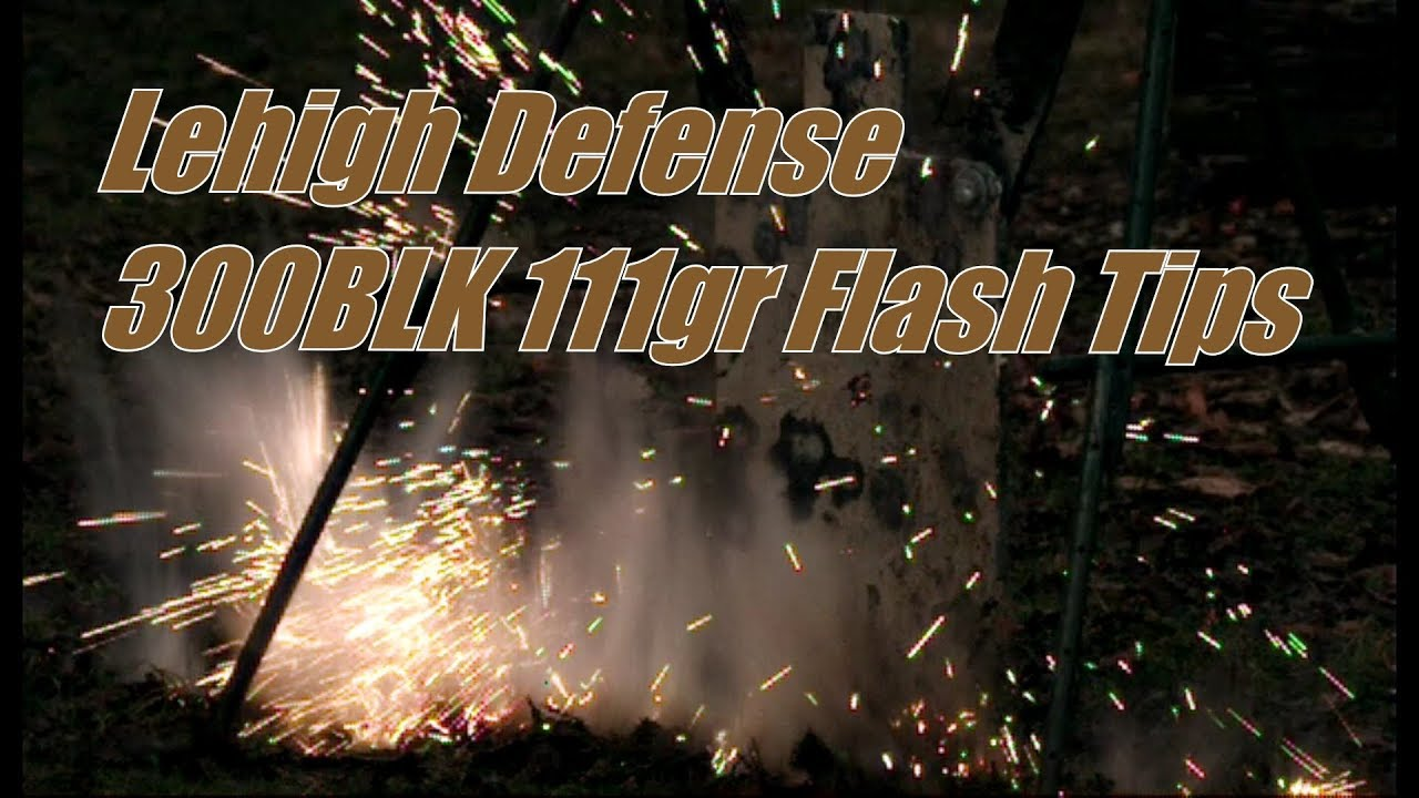 300BLK Lehigh Defense 111gr Match Solid Flash Tip