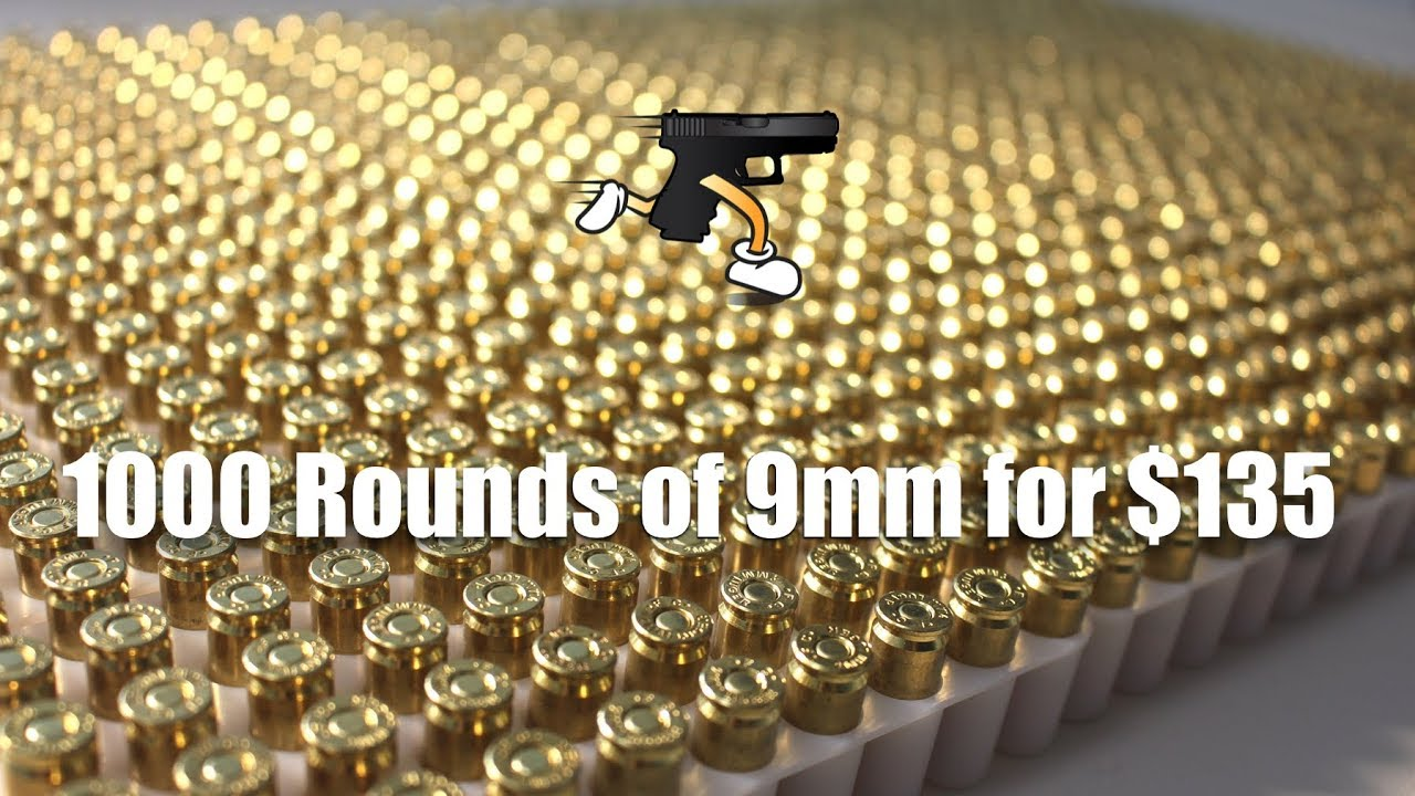 Cheap 9mm brass ammo online (1000 rds = $135) American Eagle