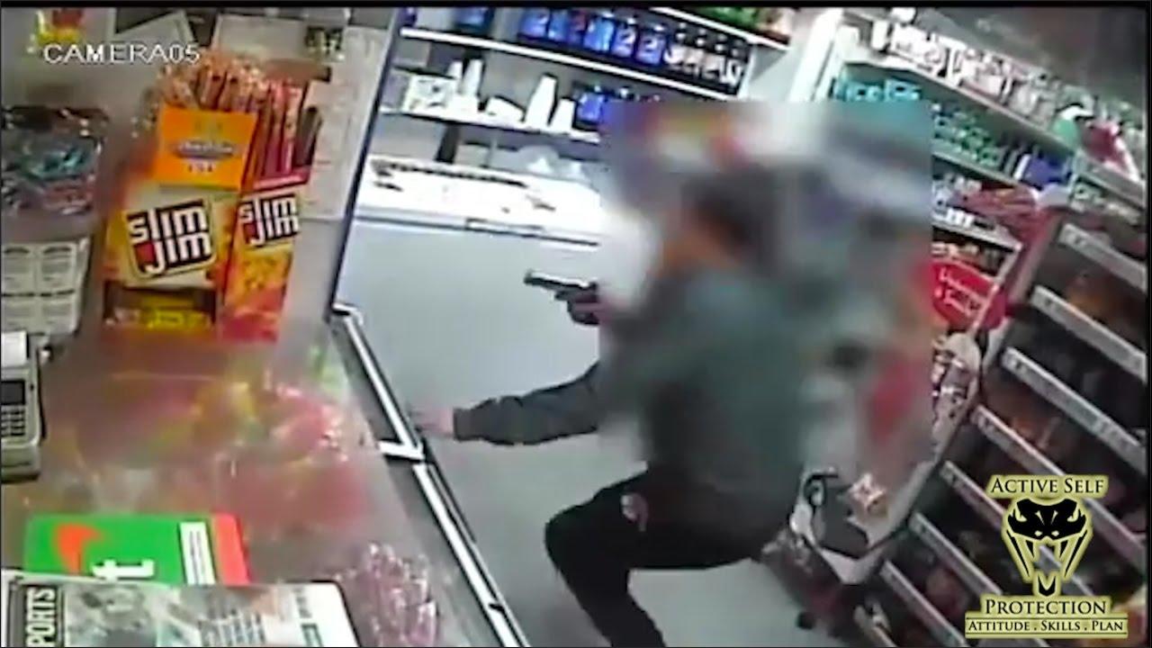 Armed Robber Flees from Armed Clerk