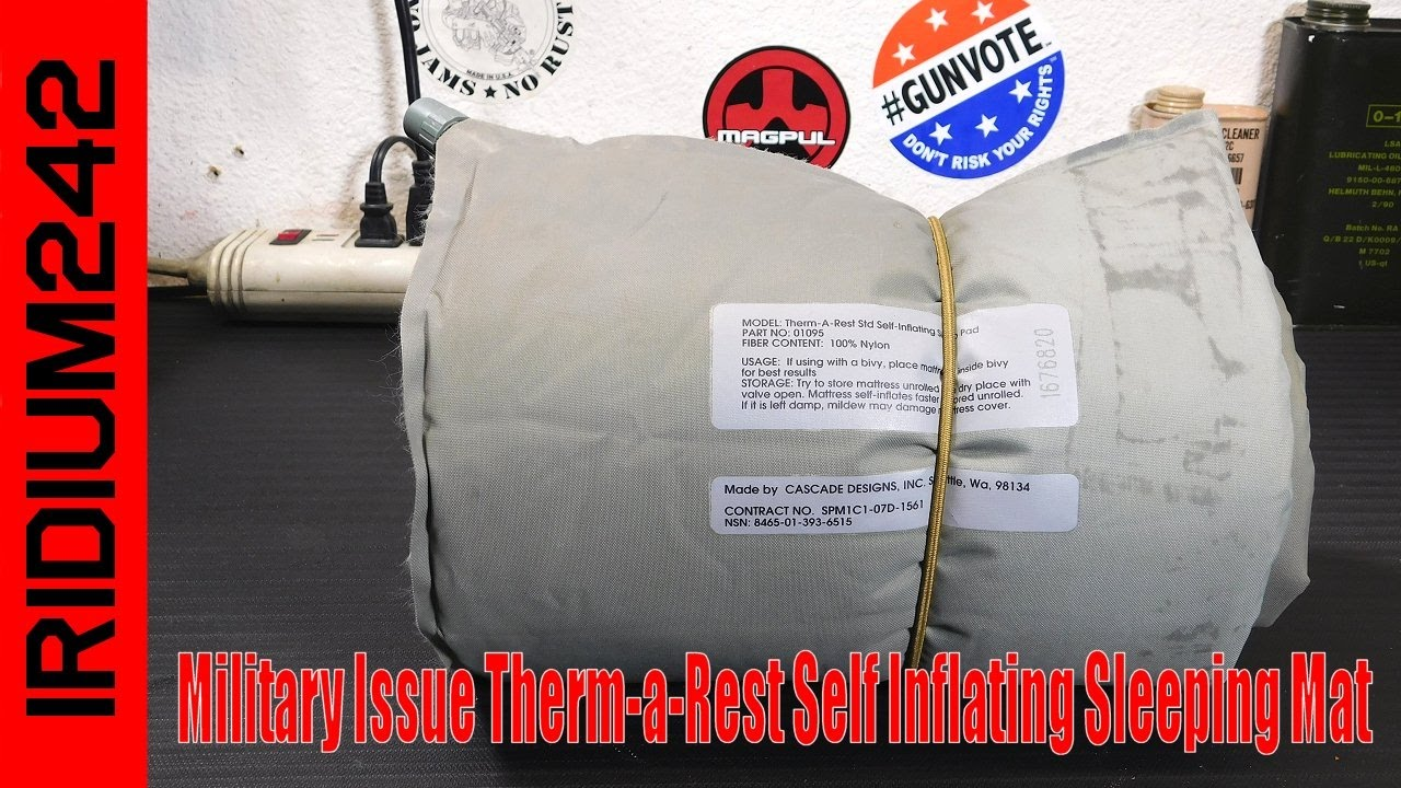 Military Issue Therm-a-Rest Self Inflating Sleeping Mat