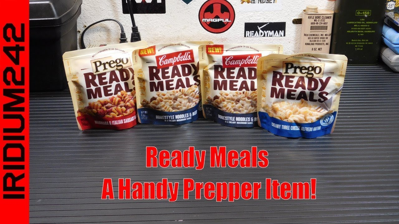Prego / Campbell's Ready Meals: A Handy Prepper Item