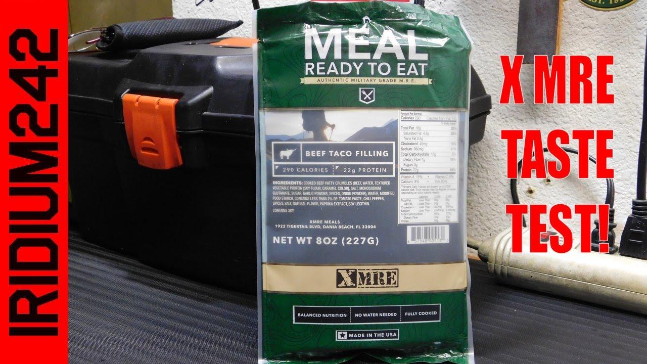 X MRE Taste Test (Beef Taco)