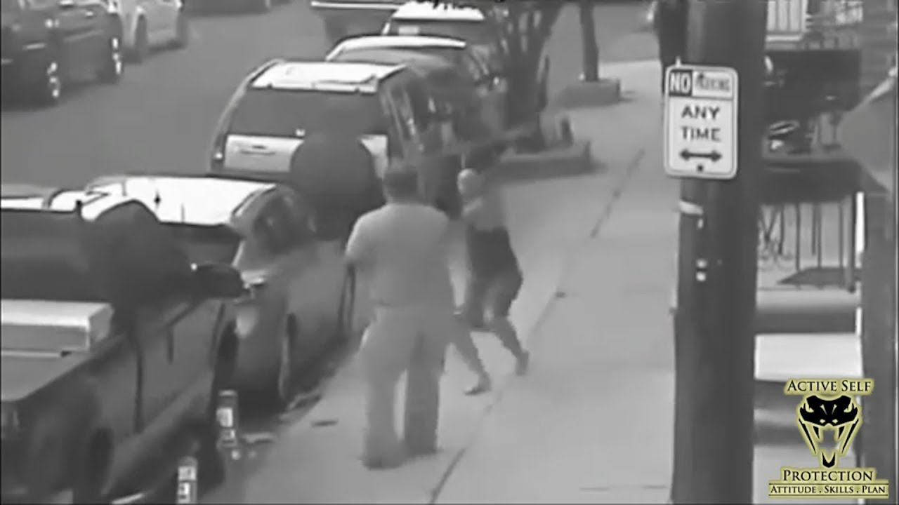 CCTV Shows Big Dude Handle Bat Wielding Neighbor Like a Boss | Active Self Protection