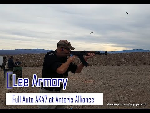 Test Firing the Lee Armory AK47 Full Auto at Anteris Alliance 2019