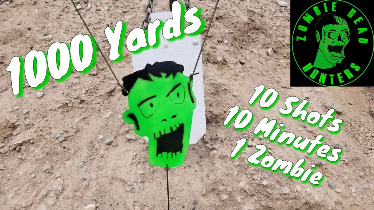 1000 Yard Zombie Head Challenge - 6.5 Creedmoor - Savage 110 Tactical Desert