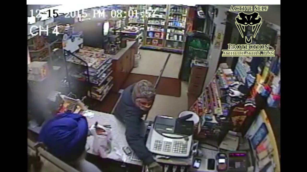 Armed Robber Chased Off By Angry Store Owner