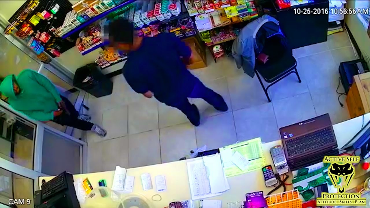 Armed Robber Drops His Magazine Mid-Robbery | Active Self Protection