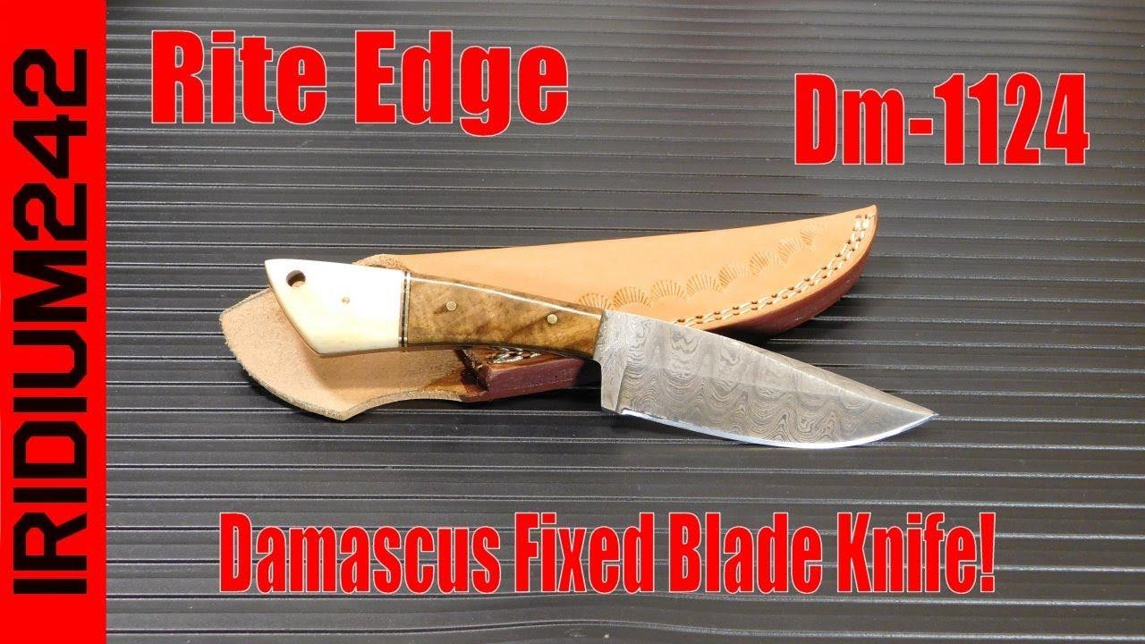 Rite Edge DM-1124 Damascus Fixed Blade Knife