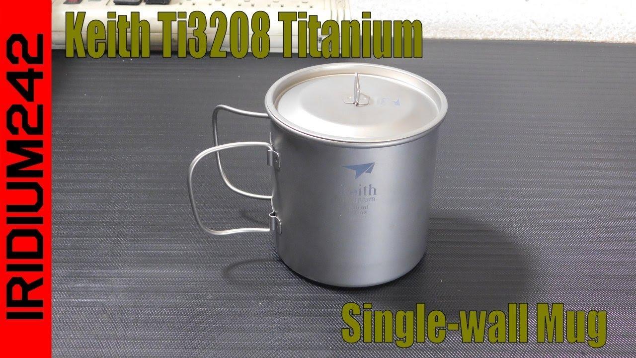 Keith Ti3208 Titanium Single wall Mug