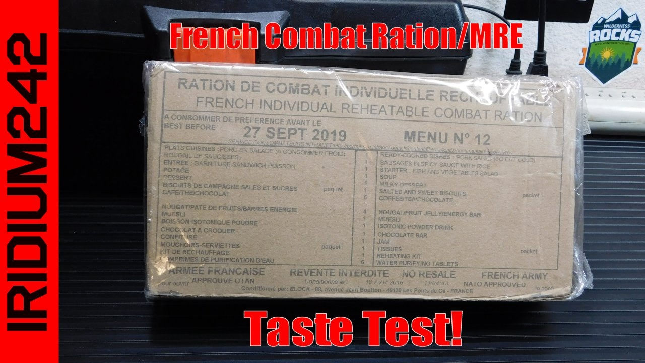 French Army Combat Ration - 24hr RCIR MRE Review