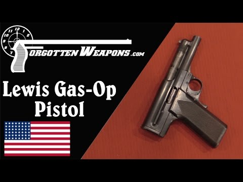 Lewis Gas Operated Prototype Pistol